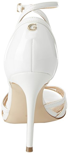 White Guess White Dress Footwear Strap Sandal Heels Ankle Women's q7A8S