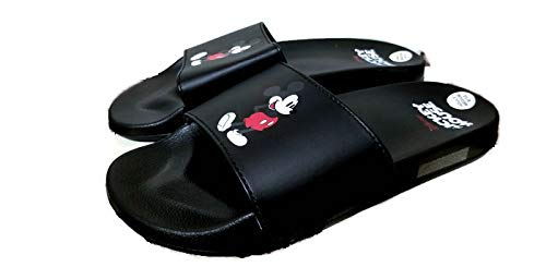 Disney Classic Mickey Mouse Adult Black Slippers, Small 7/8]()