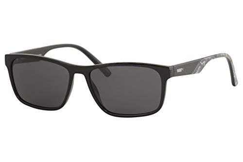 Amazon.com: Gafas de sol Puma PU 0199 S- 001 negro/soporte ...