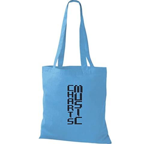 Algodón Blue Surf Bolso Tela Mujer Para De Shirtinstyle zA8wt