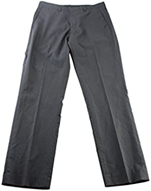Calvin Klein Mens Pindot Slim Fit Dress Pants Black 29/30