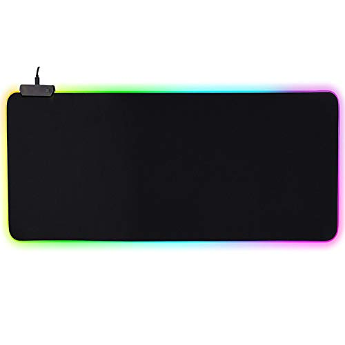 Padom Gaming RGB Mouse pad Large Mouse Pad Gamer Led Computer Mousepad Big Mouse Mat with Backlight Carpet For keyboard Desk Mat Mause