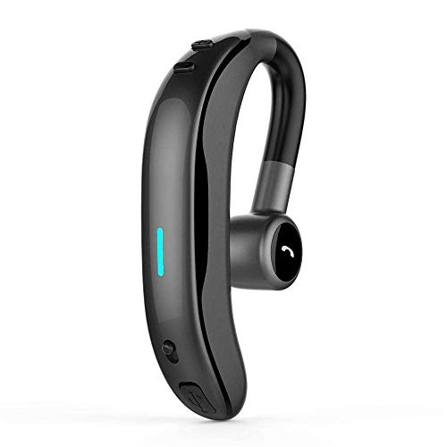 Wireless Earphone with Mic KingTo Bluetooth Headset 180 Degrees Rotate Noise Cancelling Stereo Lightweight Earbuds Compatible with iPhone Android for Work Running Business Driving-One - Sound Id Bluetooth