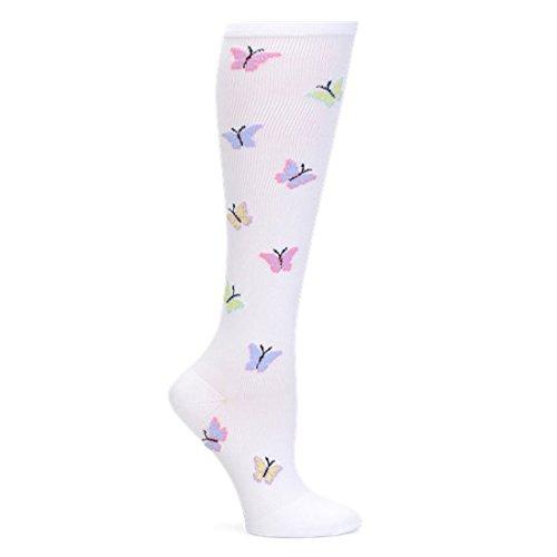- Nurse Mates Women's 12-14 Mmhg Compression Trouser Sock Butterfly
