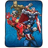 Marvel Avengers Blanket Kids Bedding Throw - 46 in. x 60 in.