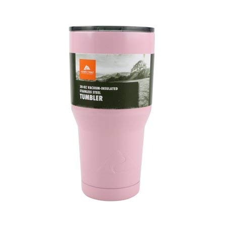 Ozark Trail 30-Ounce Double-Wall, Vacuum-Sealed Tumbler - Pink