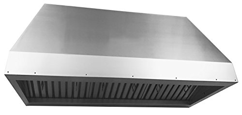 Cycene 34 Inch Professional Series Insert Liner Stainless Steel Range Hood w/ Baffle Filter @ 1000CFM - CY-RH19ILPS-34 (Island Hood Liner)