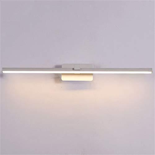 WLGBD Aplique de Pared con luz de Espejo LED Lámpara de baño 9W IP65 Impermeable, antiniebla, Blanco cálido (50 cm)