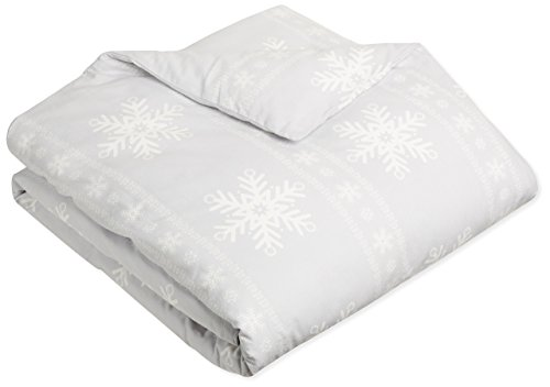 Pinzon Flannel Duvet Cover – Full/Queen, Snowflake Grey (Flannel Comforter Cover)