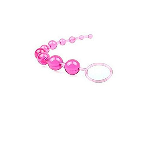 Pavian SiliconeSlimAnalBeadsMassagerPlugDildoButt for beginer Pink