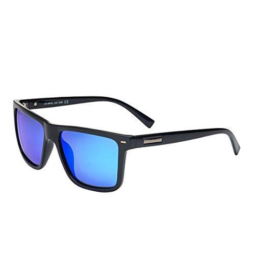 UV-BANS Polarized Sunglasses for Men Women,Retro Wayfarer Style,TAC UV400 - Sunglasses M For Men