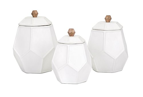 Trisha Yearwood Home Collection 95809-3 Ty Songbird Geometric Canisters - Set of 3 Trisha Yearwood Home Set of 3 Songbird Geometric Canisters