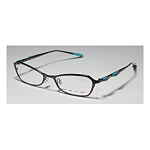 Kata Peel 1 Womens/Ladies Designer Full-rim Titanium Eyeglasses/Spectacles (50-17-135, Brown / Turquoise)