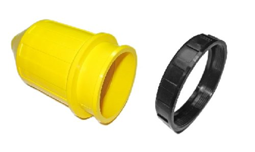Conntek Marine Shore Accessory Weatherproof Boot and Ring for 50 Amp Male Plug/Female Connector by Conntek