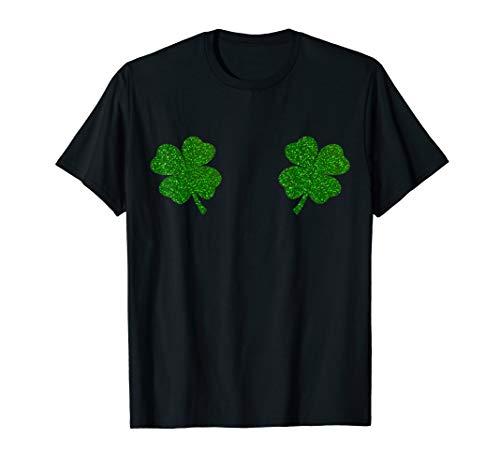 Irish Shamrock Boobs Tee Saint Paddys St.Patrick's Day Shirt