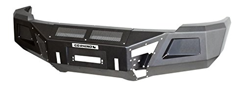 - Go Rhino 24219T Textured Black Powder Coat Finish Front Replacement Bumper (BR10)