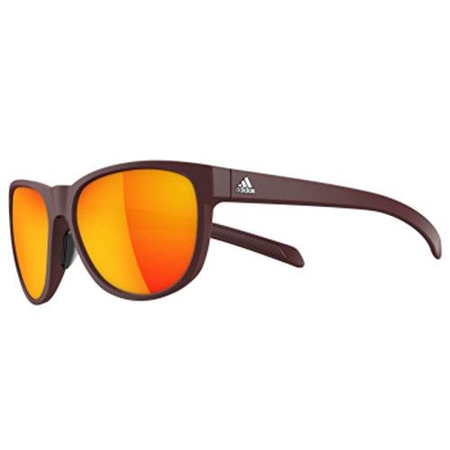 adidas Womens Wildcharge a425 6058 Round Sunglasses, Maroon Matte, 57 ()
