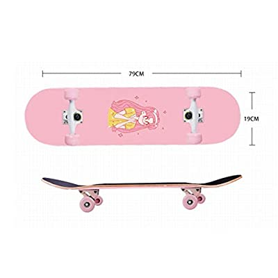 YQQ-MOTION Freestyle Longboard 7 Layers of Maple Standard Skateboards Sports 31x 7.4 inch Beginner Adult Kid Girl Boys Teen Outdoors Brush Street Max Load 200kg Standard Skateboards : Sports & Outdoors