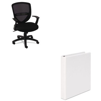 KITOIFVS4717UNV20962 - Value Kit - Oif VS Series Swivel/Tilt Mesh Task Chair (OIFVS4717) and Universal Round Ring Economy Vinyl View Binder (UNV20962)