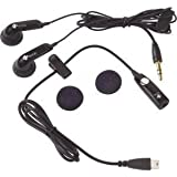 Mp3 Music Stereo Handsfree Headset Headphones Earphones Ear Buds with Mic Microphone and 3.5mm Audio Adapter + Dual Ear Buds Headphones