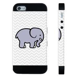 Houseofcases Cute Elephant On Grey Chevron iPhone 4/4S Case - Hybrid Plastic And Durable Silicon iPhone 4/4S Case