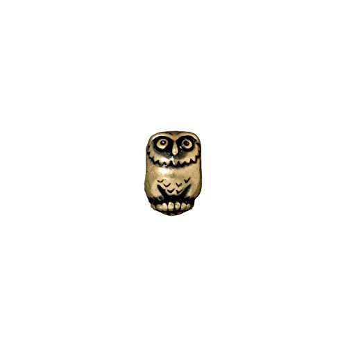 (TierraCast Owl, 4mm/12mm, Antiqued Brass Oxide Finish Pewter, 3-pack)