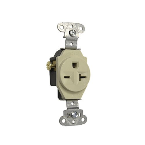 Legrand-Pass & Seymour 5851I Pass and Seymour Receptacle Single 20A 250V S-Wire, Ivory