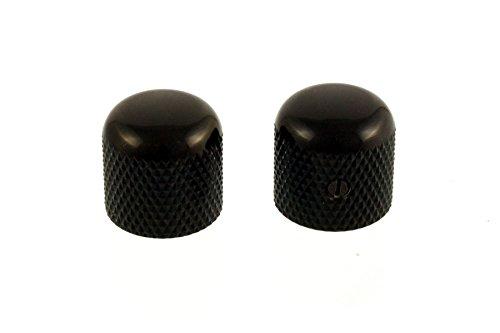 Allparts MK-0910-003 Black Dome Knobs ()