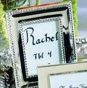 Silver Celebrations Mini Photo Frame Place Card Holder 10 Piece Favor Set for Wedding Reception Tables (Picture Favors Frame Celebration)