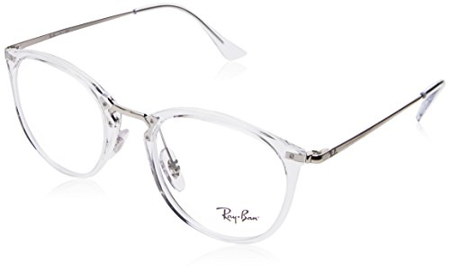 Ray-Ban RX7140 Square Eyeglass Frames, Transparent/Demo Lens, 49 mm