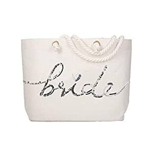 Best Epic Trends 31O5MO6xBuL._SS300_ ElegantPark Bridal Shower Gifts for Bride Tote Large Bride Bag Bride Gifts for Engagement Wedding Party Honeymoon Beach…