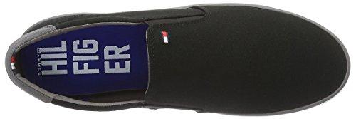 Tommy Hilfiger Herren Iconic Slip On Sneaker Low-Top Schwarz (Black 990)