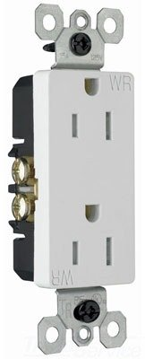 Outdoor Power Socket - Legrand - Pass & Seymour radiant 885TRWRWCC8 Tamper-Resistant/Weather-Resistant Outdoor 15 Amp Duplex Outlet, White
