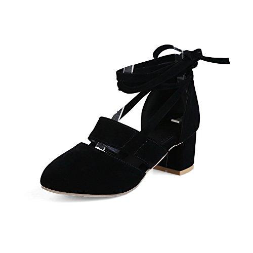AdeeSu Sandales Noir Noir 36 5 EU Femme Compensées rrAwq71P