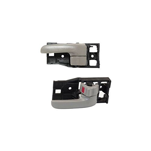 Interior Door Handle Compatible with Toyota Tundra 00-06 Front Right and Left Side Inside Gray W/Door Lock Standard/Extended Cab Pickup