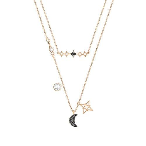 Swarovski Jewelry Glowing Moon Necklace, Black