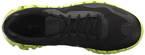 Men's Reebok Running Gravel Solar Shoe Black Zigpulse Yellow Bdq74d