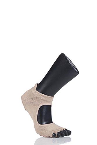 Media abierta 1 Calcetines color Ballet prima nbsp;par carne Danza de de Toesox Mujer dedos soporte 0qpIxaa
