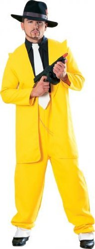 [Yellow Zoot Suit Adult Costume - Standard] (Yellow Zoot Suit)