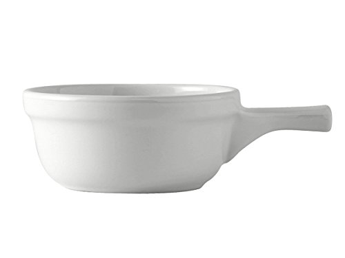 - Tuxton BWS-1202 Vitrified China French Casserole, 12 oz, White (Pack of 12),