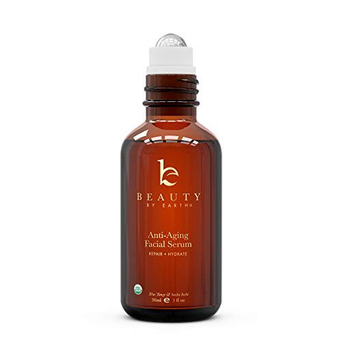 31O5YRRNQJL - Organic Face Serum - Blue Tansy Serum for Face, Anti Aging Serum, Eye Serum & Facial Serum, Skin Brightening Serum, Anti Wrinkle Serum, Skin Care Face Serums to Moisturize, Hydrate & Repair (1 Pack)