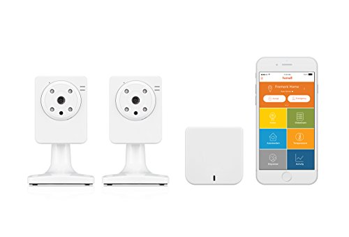 Home8 Video-Verified VideoShield 2-Camera Video Monitoring System with Free Basic Service, featuring Amazon Alexa Integration