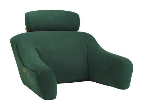BedLounge (Regular Size, 100% Cotton Cover, Hunter Green Color): The Ultimate Reading Pillow, Back Support Pillow, TV Pillow and More ... by BedLounge ()