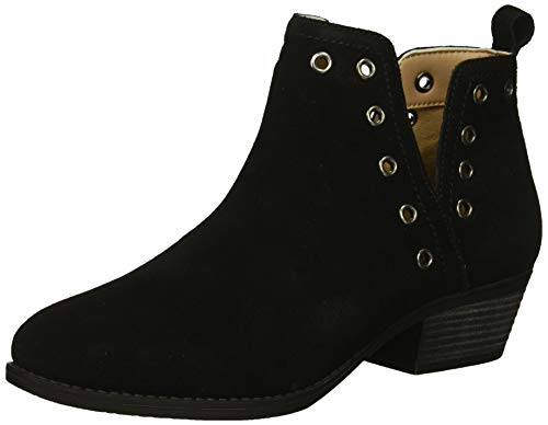 Skechers Women's Lasso-Auger-Short Deco Eyelet Ankle Boot, Black, 7.5 M US