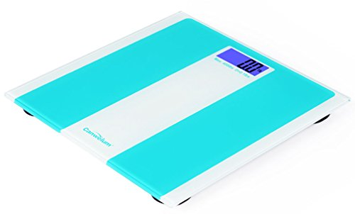 """UPC 700729051986, Canwelum """"Smart Step-on"""" Accurate Digital Bathroom Scale, Body Weight Scale, Digital Body Scale with Blue Backlight LCD Display and Strong Tempered Glass Platform (Green)"""