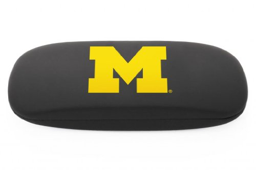 NCAA Michigan Wolverines  Black Hard Case with Michigan Logo - Hard Eyewear Case with Team Logo, Black, One Size