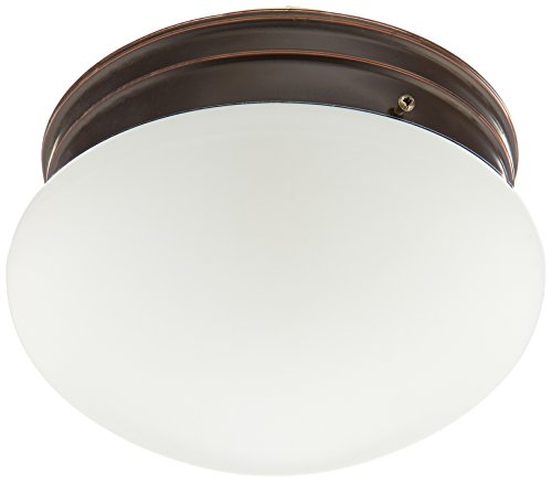 Nuvo Lighting 60/2643 Two Light Medium Mushroom Flush Mount Ceiling Fixture with Frosted Glass Shade - Ceiling Mushroom
