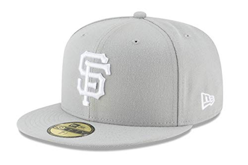 (New Era 59Fifty Hat San Francisco Giants Basic Gray Fitted Cap 11194675 (8)