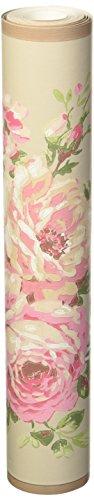 York Wallcoverings Casabella II Rose Scroll Border, Cloud Grey/Bright Pink/Raspberry/White/Beige/Browns/Various Green Hues (Border Cloud Wallpaper)