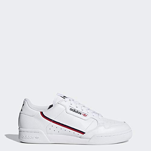adidas Originals Men's Continental 80 Sneaker, White/Scarlet/Collegiate Navy, 8 Medium US